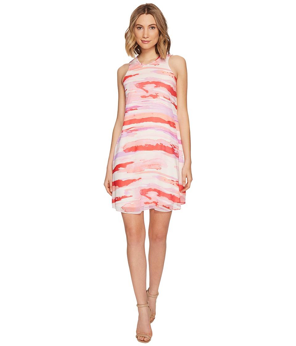 Calvin Klein - Sleeveless Printed Trapiz Dress (Watermelon Multi) Women's Dress