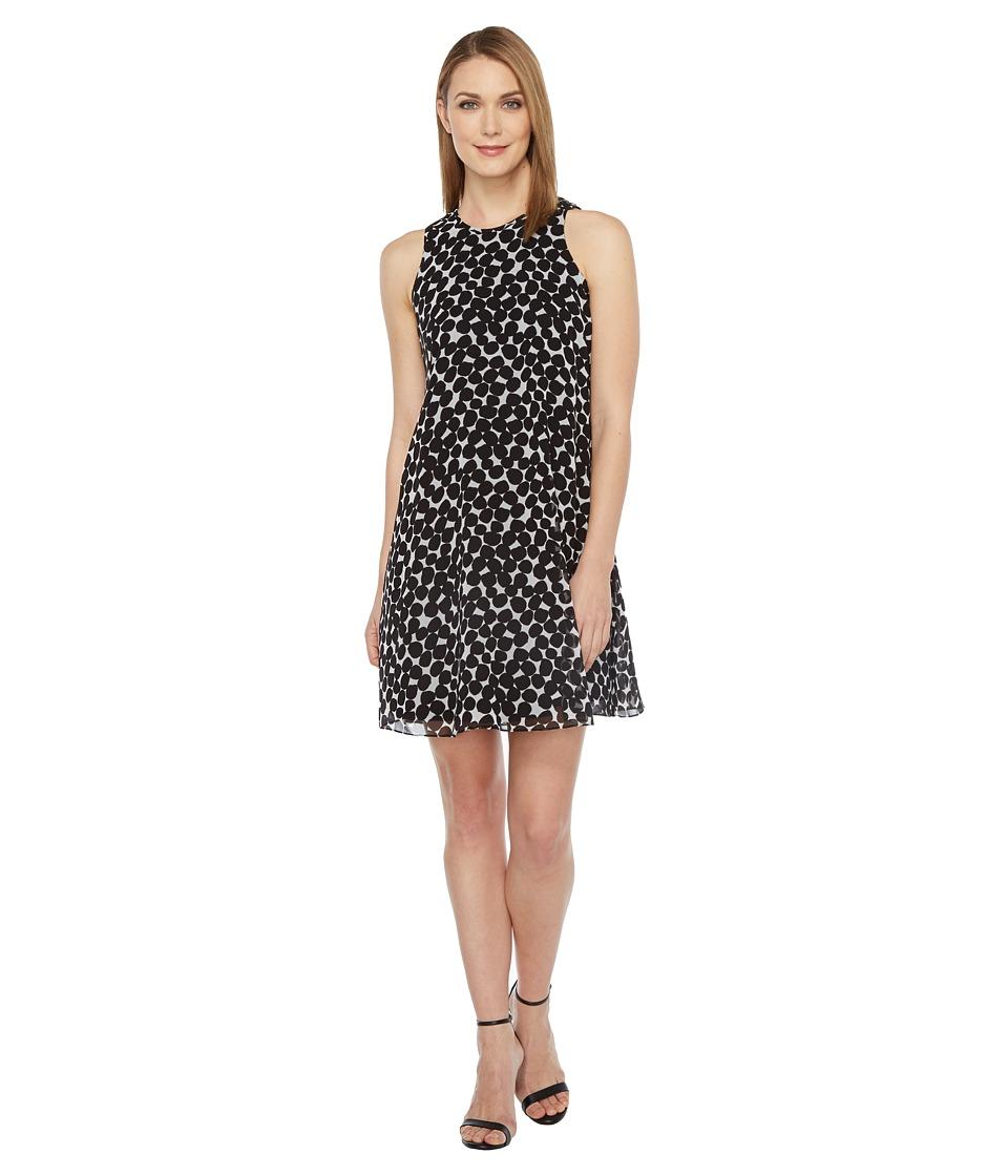 Calvin Klein - Polka Dot Trapiz Dress (Black/White) Women's Dress