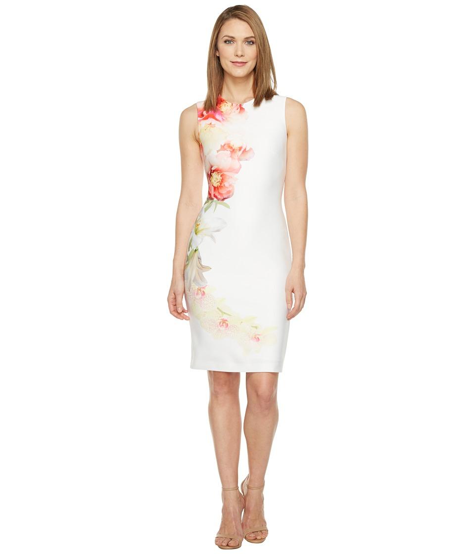 Calvin Klein - Placed Floral Print Sheath Dress (Blossom Multi) Women's Dress