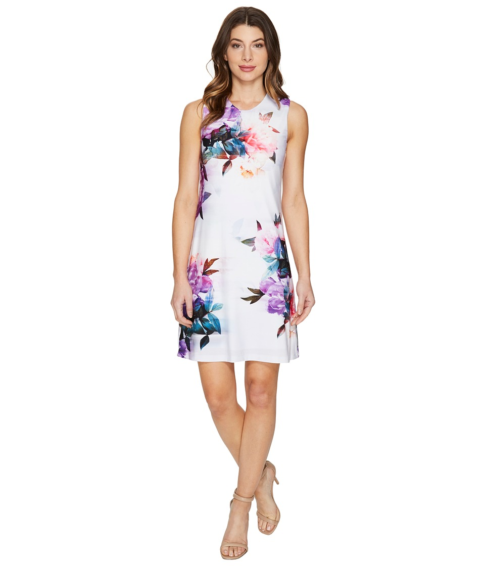 Calvin Klein - Sleeveless Floral Jersey Dress (Purple Multi) Women's Dress