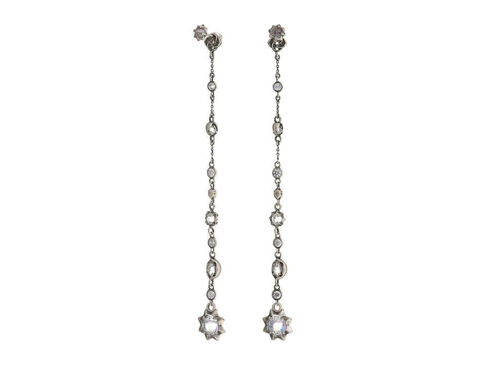 Kendra Scott - Lydia Jacket Earrings (Antique Silver/Clear Iridescent Glass) Earring