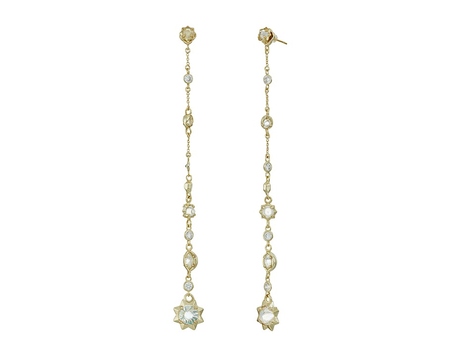Kendra Scott - Lydia Jacket Earrings (Gold/Clear Iridescent Glass) Earring