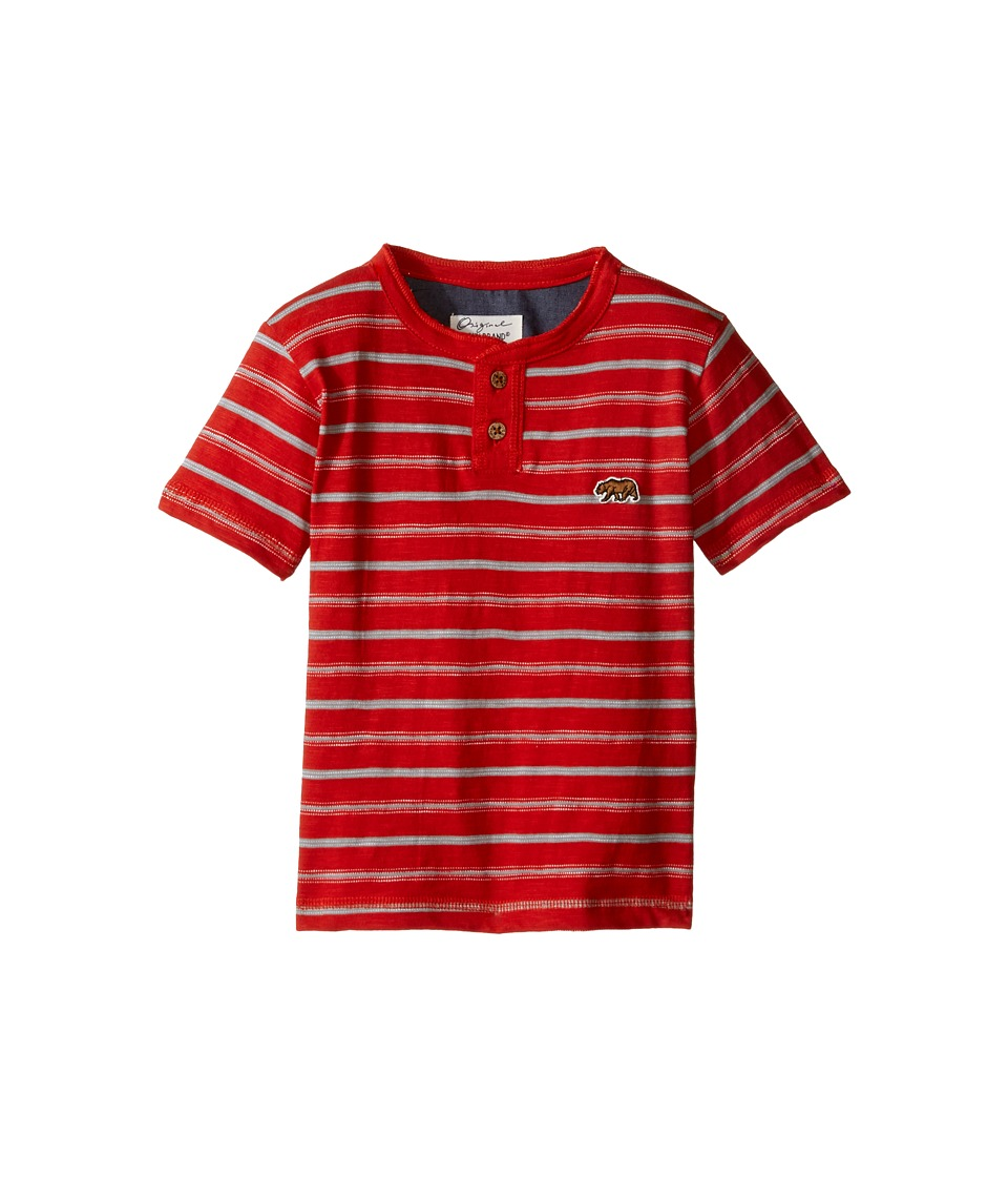Lucky Brand Kids - Offshore Short Sleeve Henley in Slub Jersey (Toddler) (Poppy) Boy's Short Sleeve Pullover