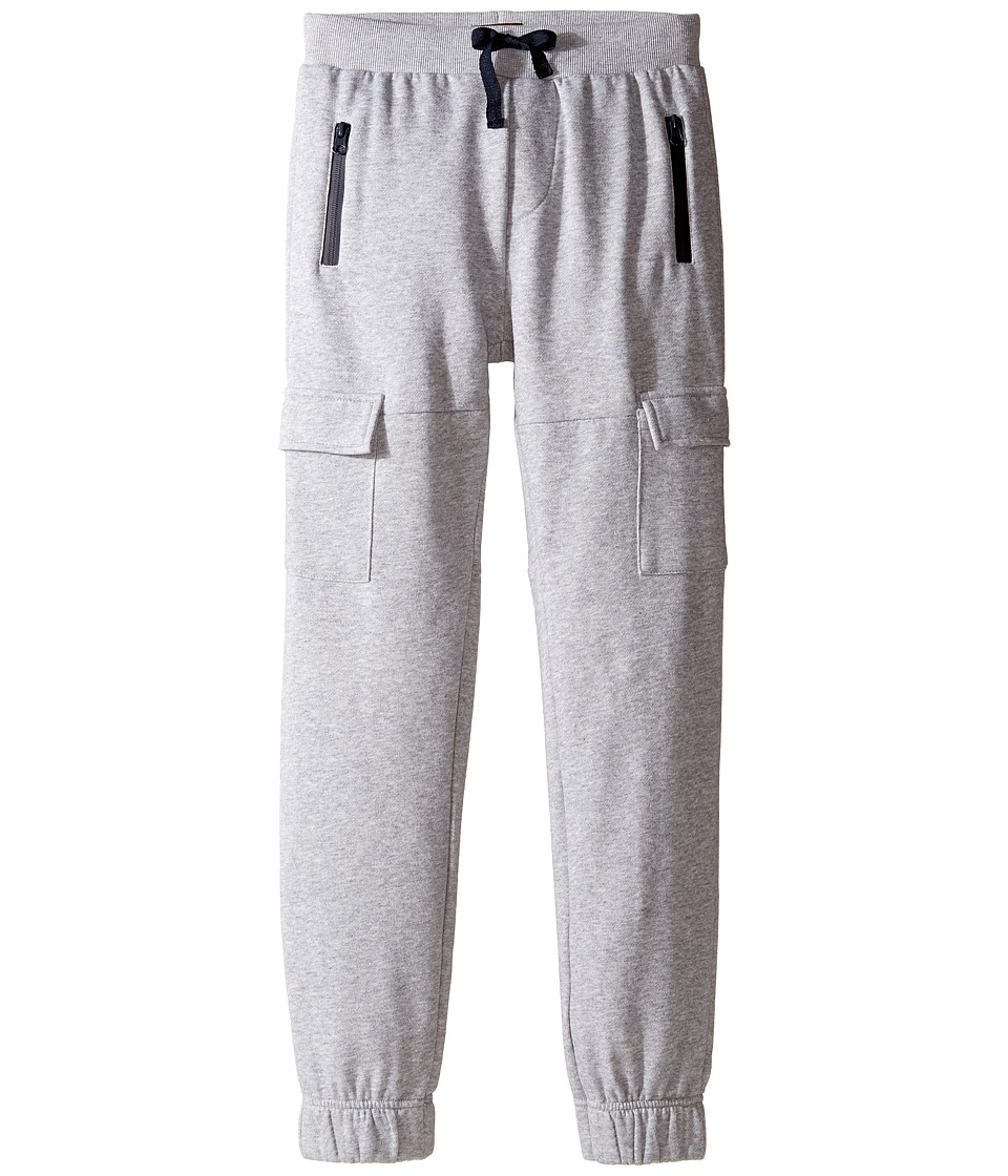 7 For All Mankind Kids - Fleece Jogger (Big Kids) (Heather Grey) Boy's Casual Pants