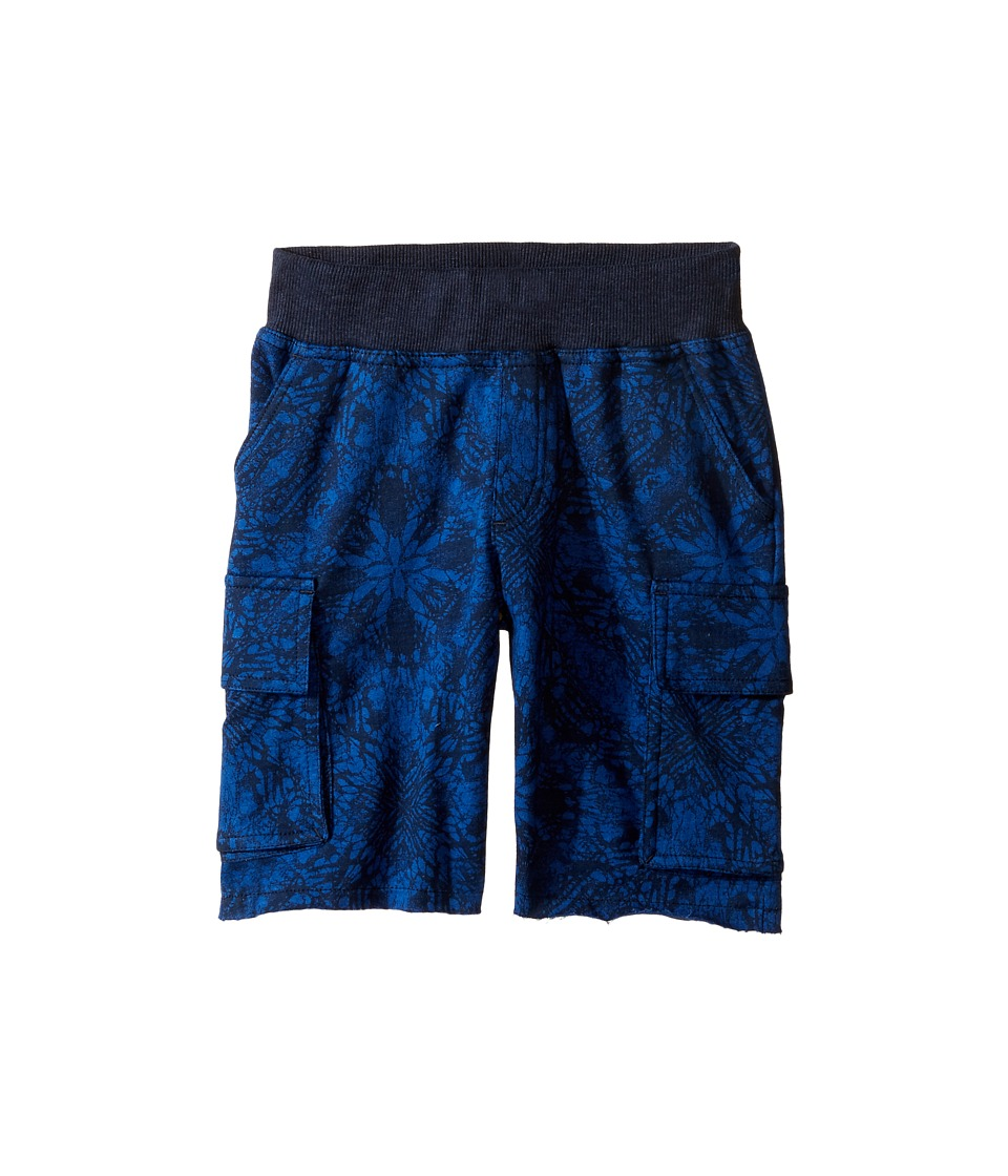 Lucky Brand Kids - Swell Cargo Shorts in French Terry (Little Kids/Big Kids) (Black Iris) Boy's Shorts