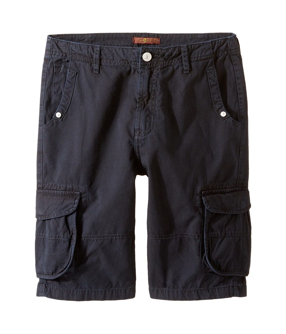 7 For All Mankind Kids - Cargo Shorts (Big Kids) (Navy) Boy's Shorts