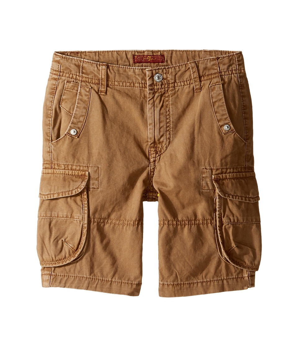 7 For All Mankind Kids - Cargo Shorts (Little Kids/Big Kids) (Khaki) Boy