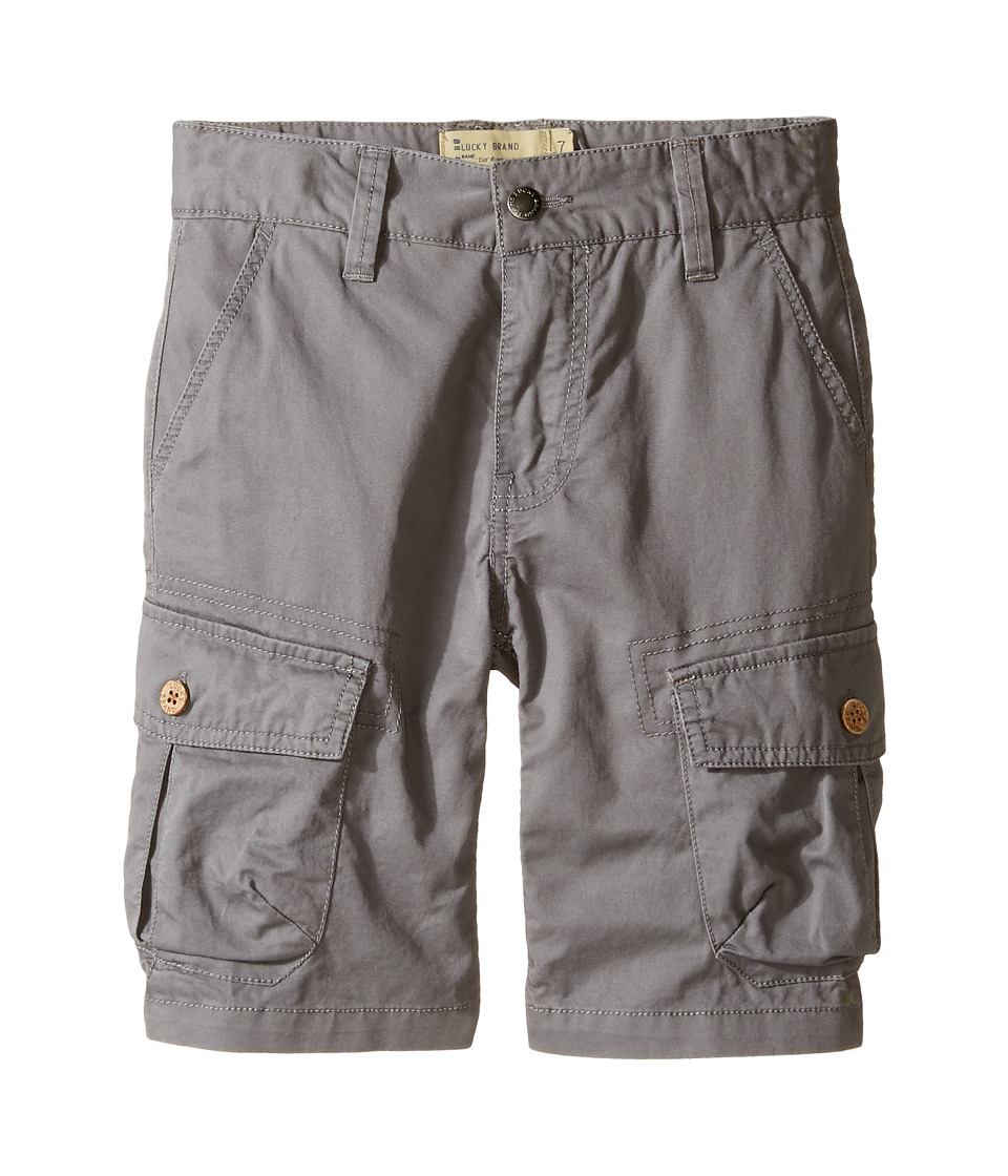 Lucky Brand Kids - Heritage Cargo Shorts in Twill (Little Kids/Big Kids) (Charcoal) Boy's Shorts