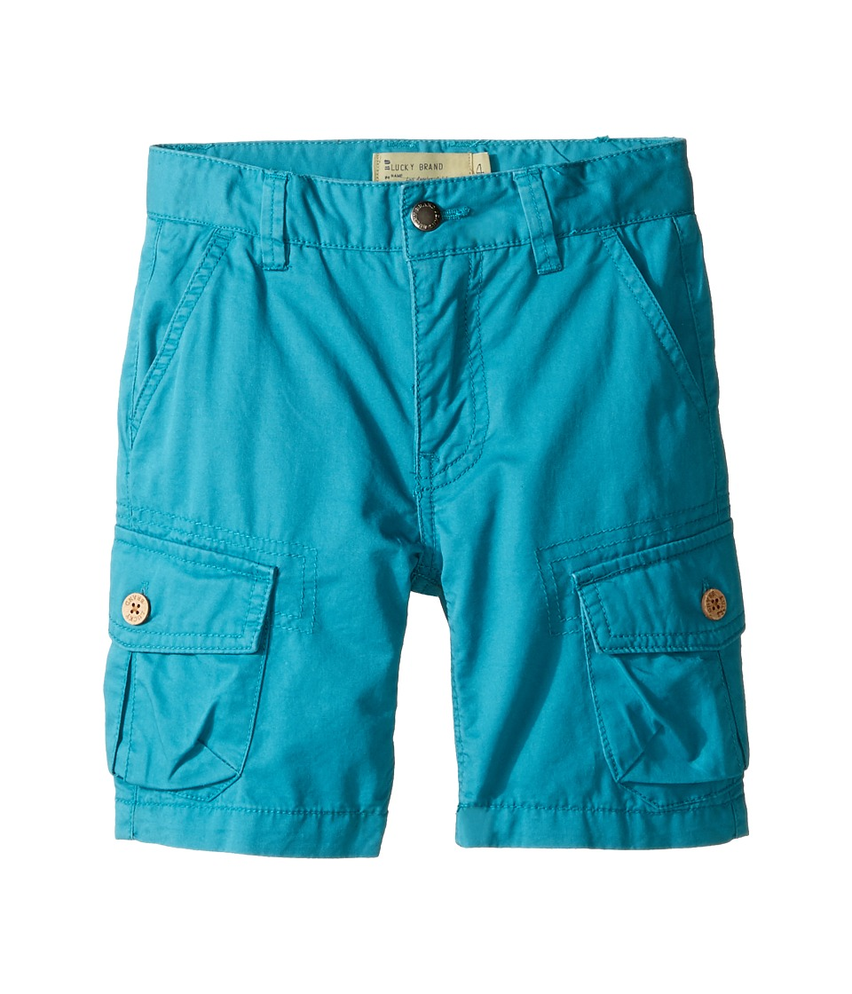Lucky Brand Kids - Heritage Cargo Shorts in Twill (Little Kids/Big Kids) (Parka Blue) Boy's Shorts