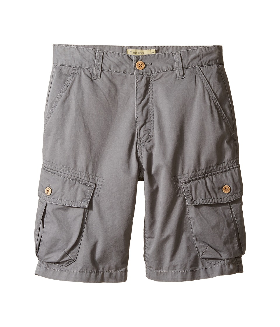 Lucky Brand Kids - Heritage Cargo Shorts in Twill (Big Kids) (Charcoal) Boy's Shorts