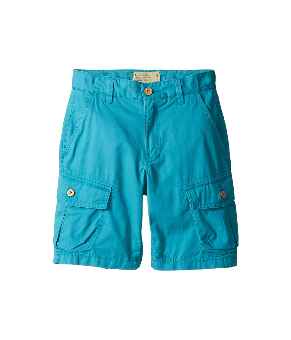 Lucky Brand Kids - Heritage Cargo Shorts in Twill (Big Kids) (Parka Blue) Boy's Shorts