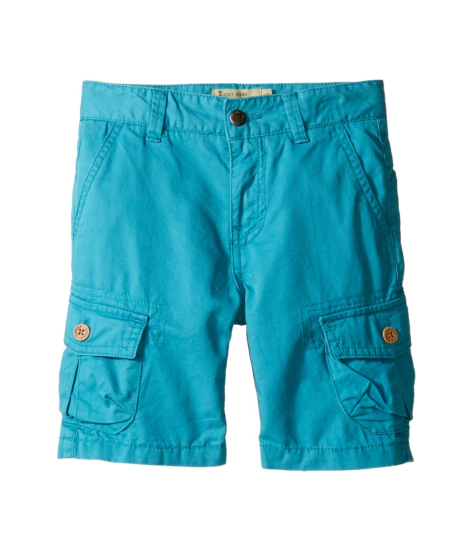 Lucky Brand Kids - Heritage Cargo Shorts in Twill (Toddler) (Parka Blue) Boy's Shorts