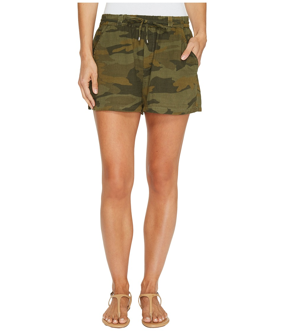 Splendid - Tie Waist Shorts (Military Olive) Women's Shorts