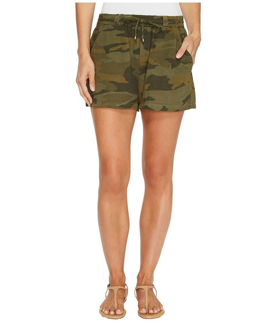 Splendid - Tie Waist Shorts (Military Olive) Women's Shorts