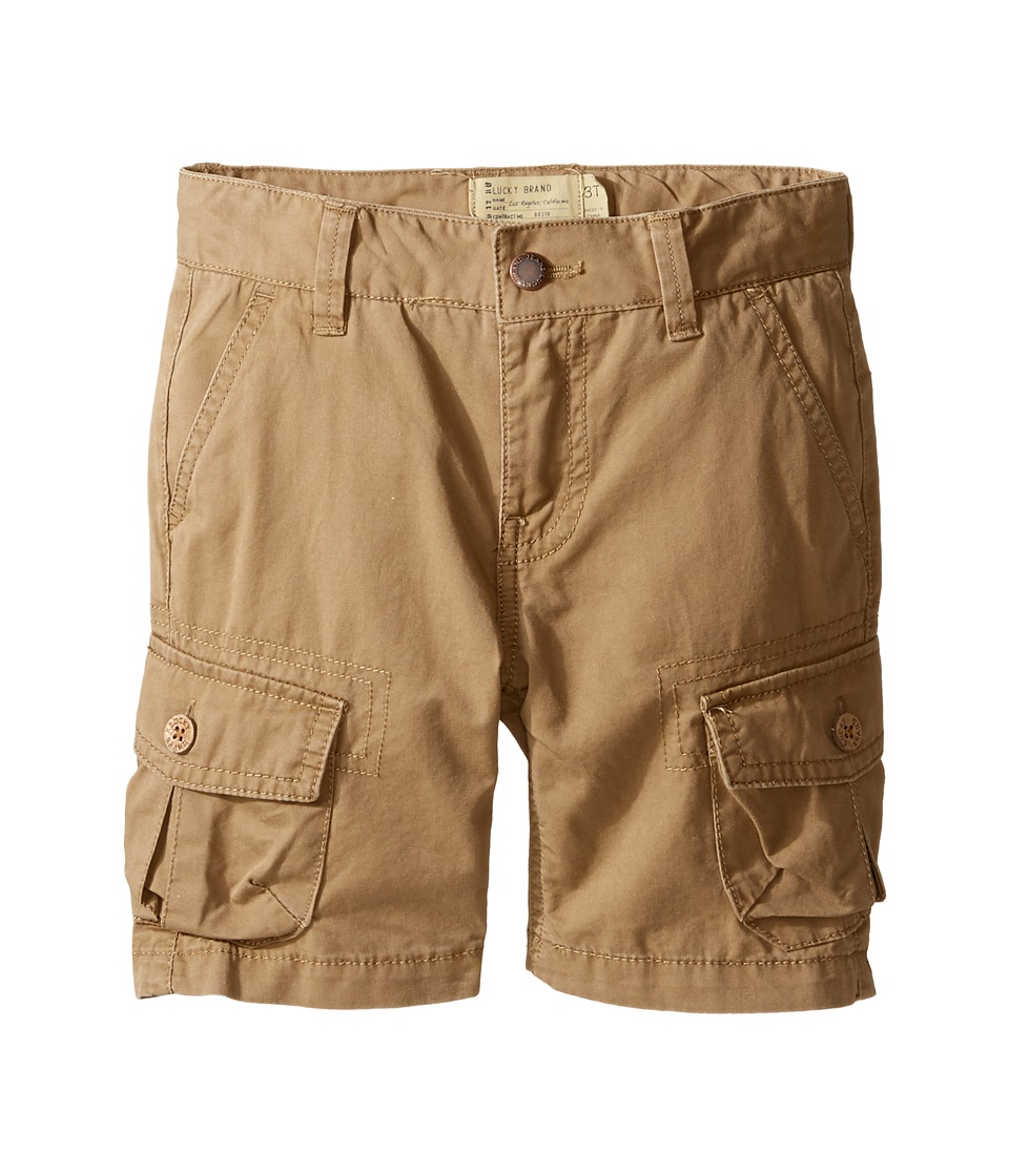 Lucky Brand Kids - Heritage Cargo Shorts in Twill (Little Kids/Big Kids) (Khaki) Boy's Shorts