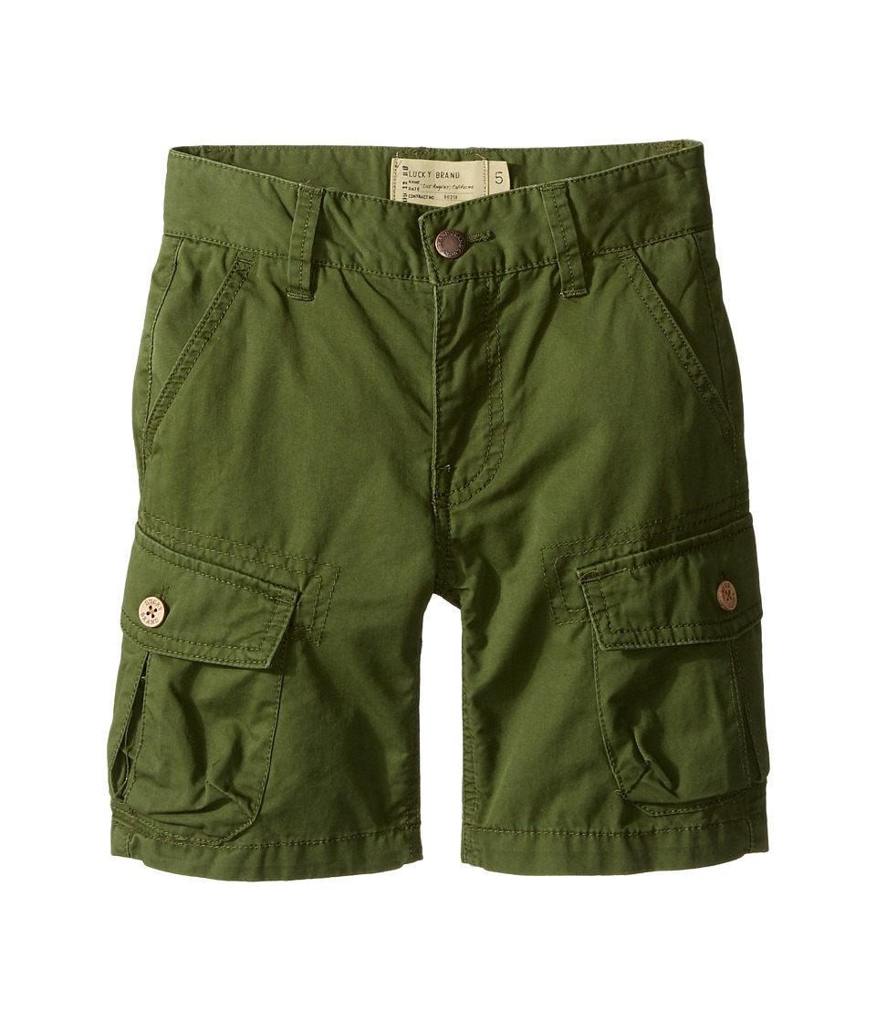 Lucky Brand Kids - Heritage Cargo Shorts in Twill (Little Kids/Big Kids) (Cypress) Boy's Shorts