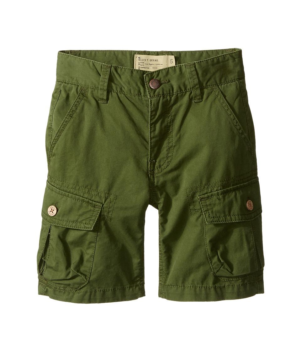 Lucky Brand Kids - Heritage Cargo Shorts in Twill (Little Kids/Big Kids) (Cypress) Boy's Shorts