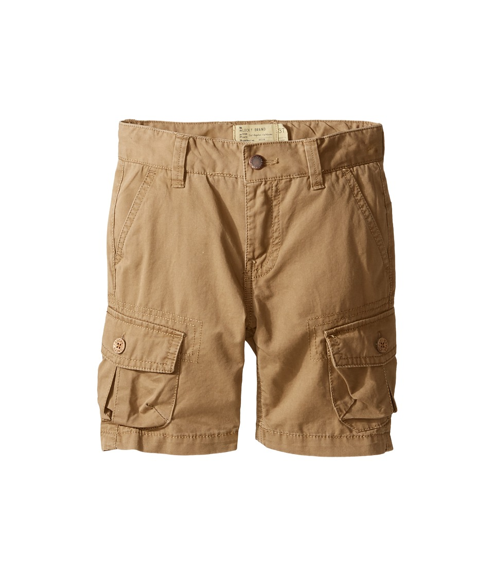 Lucky Brand Kids - Heritage Cargo Shorts in Twill (Toddler) (Khaki) Boy's Shorts