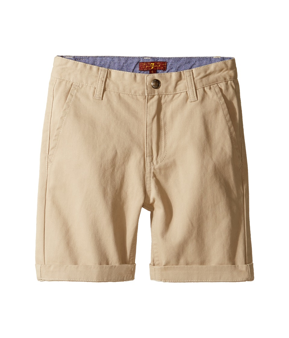 7 For All Mankind Kids - Classic Shorts (Little Kids/Big Kids) (Stone) Boy's Shorts