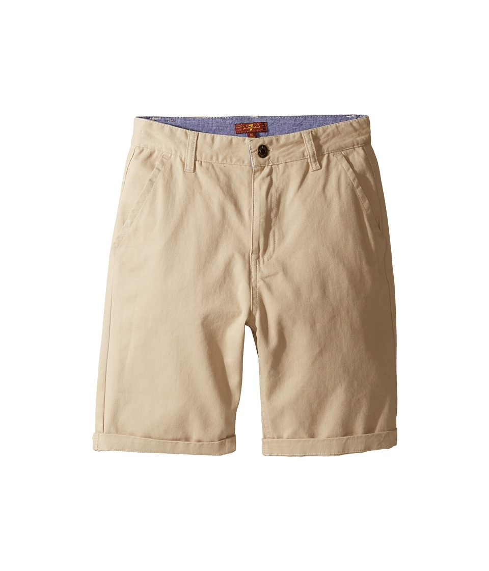 7 For All Mankind Kids - Classic Shorts (Big Kids) (Stone) Boy's Shorts