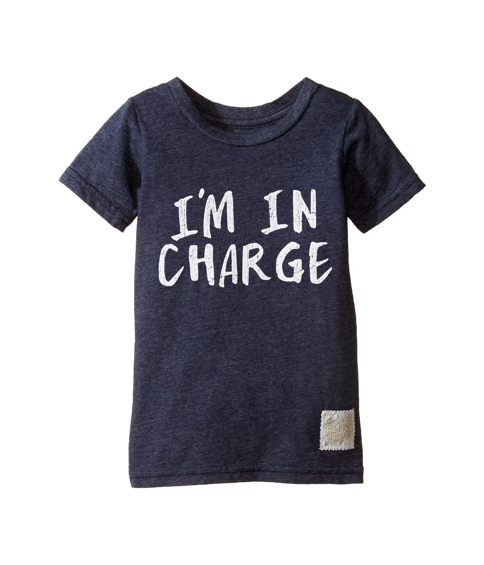 The Original Retro Brand Kids - I'm in Charge Short Sleeve Tri-Blend Tee (Toddler) (Streaky Navy) Boy's T Shirt