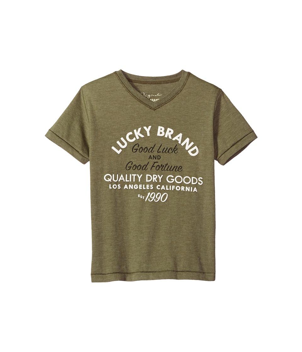 Lucky Brand Kids - Good Fortune Short Sleeve Tee (Big Kids) (Cypress) Boy's T Shirt