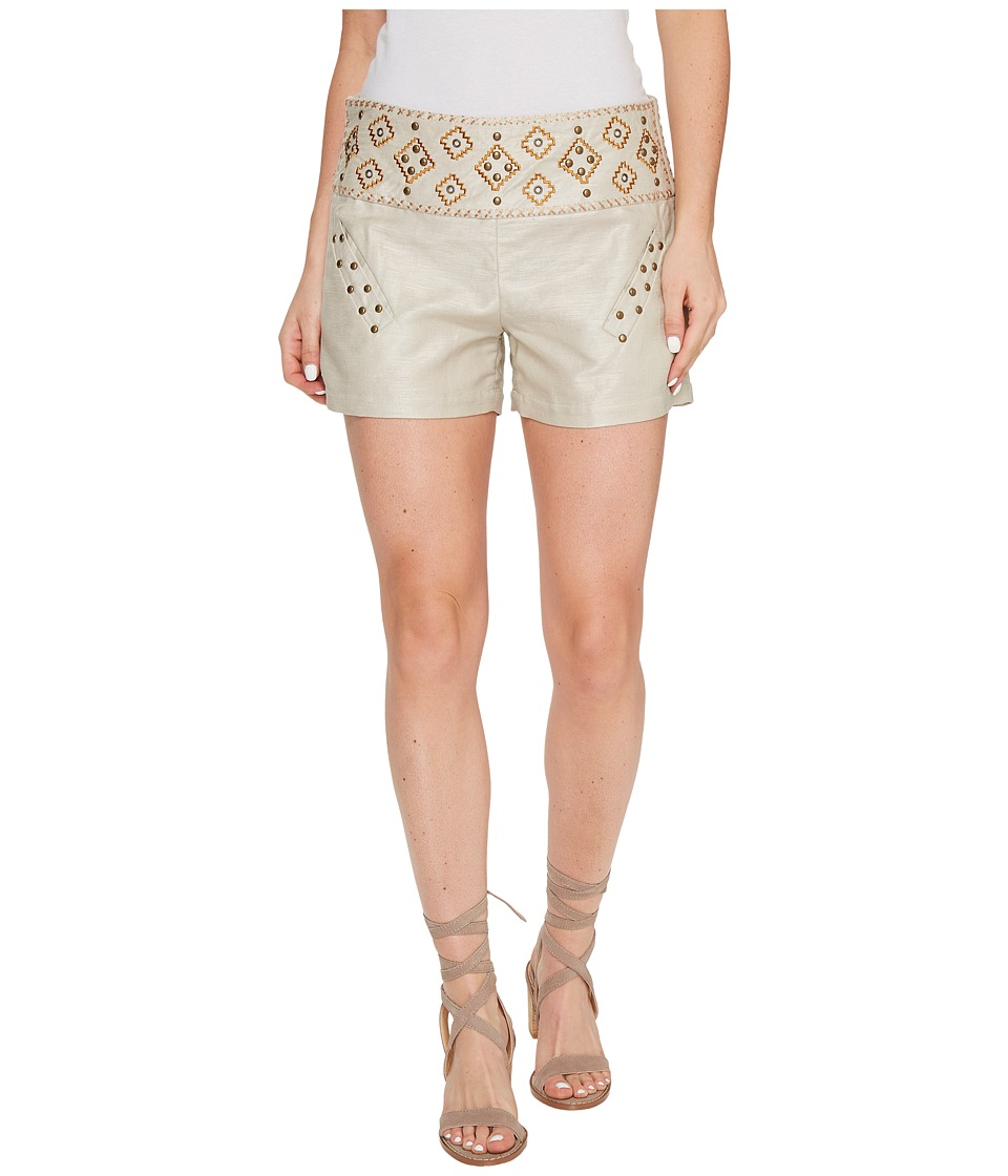 Union of Angels - Leon Shorts (Khaki/Embroidery/Studs) Women's Shorts