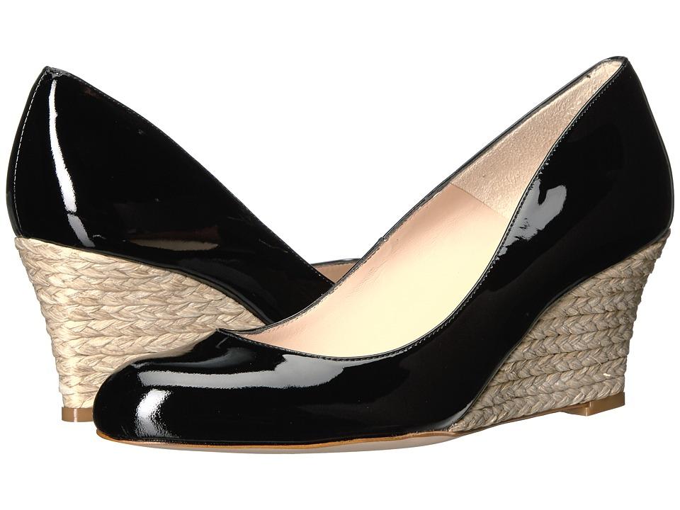 L.K. Bennett - Zella (Black Patent) Women's Wedge Shoes