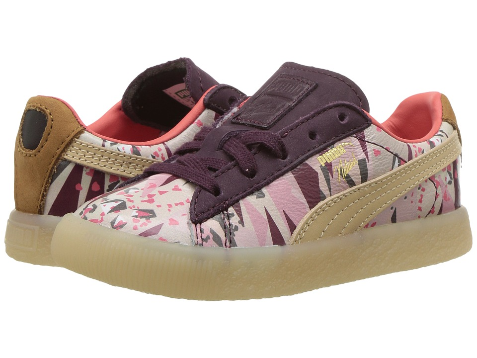 Puma Kids Clyde Moon Desert Naturel (Toddler) (Winetasting Natural Vachetta) Girl