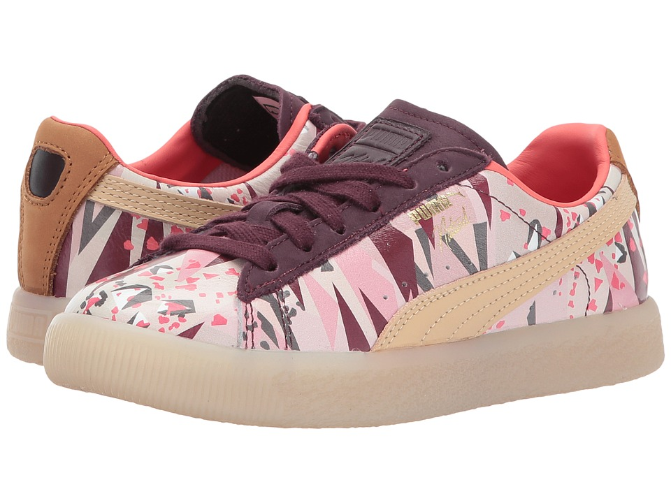 Puma Kids Clyde Moon Desert Naturel (Little Kid/Big Kid) (Winetasting/Natural Vachetta) Girl