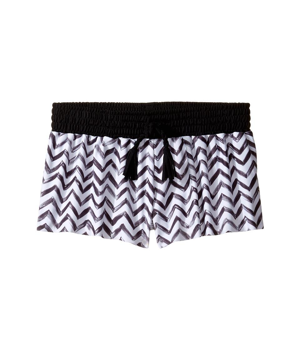Seafolly Kids - Subtropical Boardie (Little Kids/Big Kids) (Black/White) Girl's Swimwear