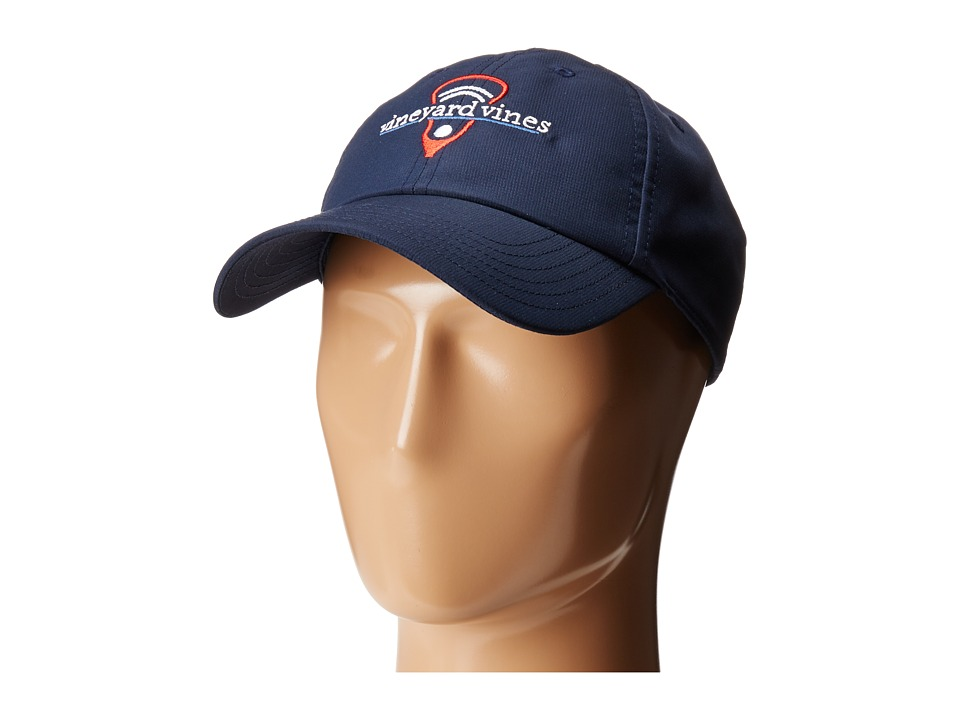 Vineyard Vines - Lax Performance Hat (Vineyard Navy) Caps