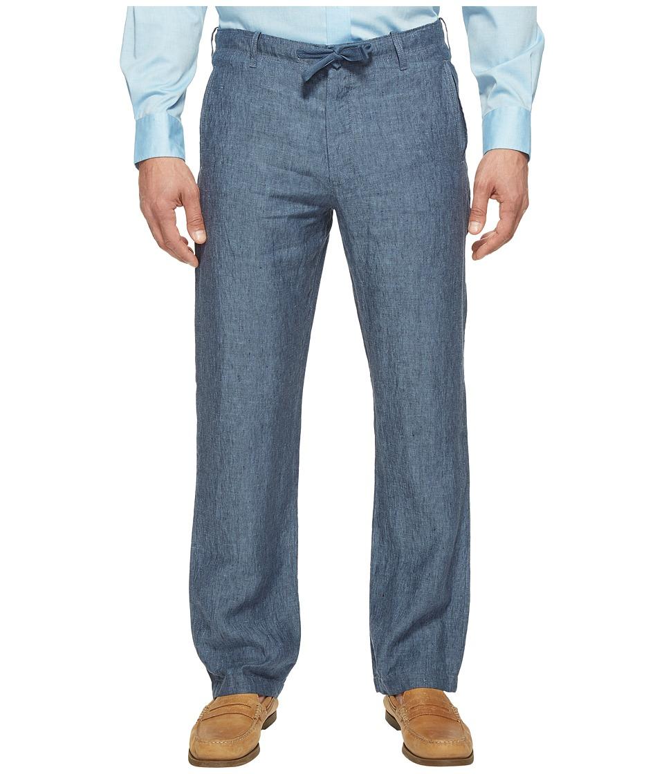 Perry Ellis - Drawstring Linen Pants (Bay Blue 1) Men's Casual Pants