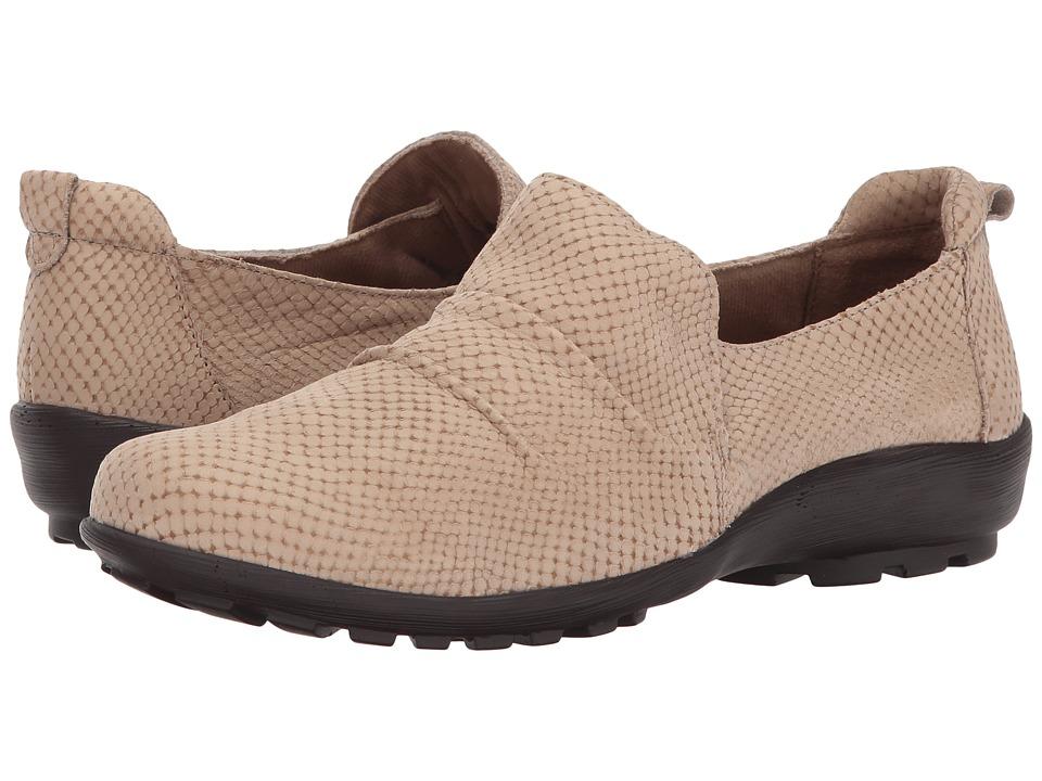 Walking Cradles - Hanson (Light Taupe Matte Snake Print) Women's Slip on Shoes