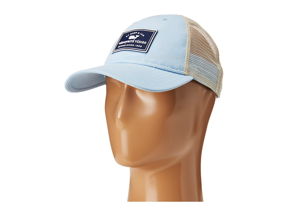 Vineyard Vines - Established 1998 Patch Trucker Hat (Surf Blue) Caps