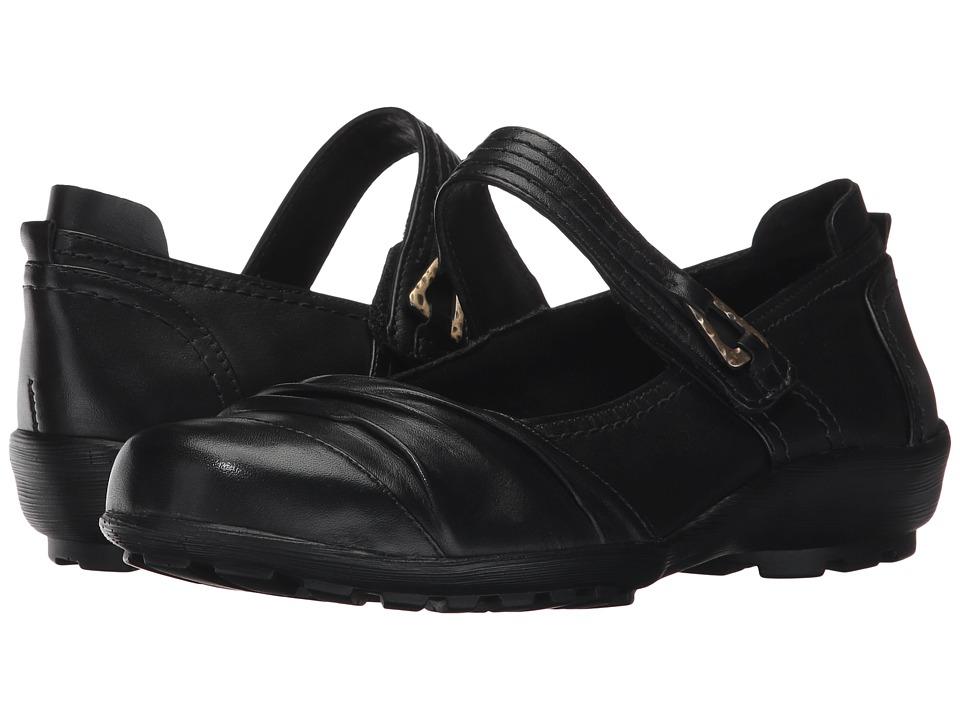 Walking Cradles Hayden (Black Leather) Women