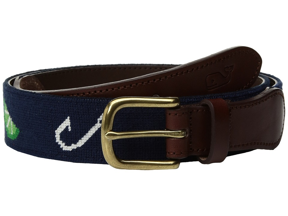 Vineyard Vines - Hook Slice Needlepoint Belt (Deep Cobalt) Men's Belts