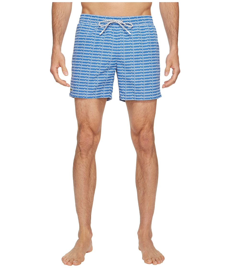Lacoste All Over Lacoste Print Short Length (Thermal Blue/White) Men