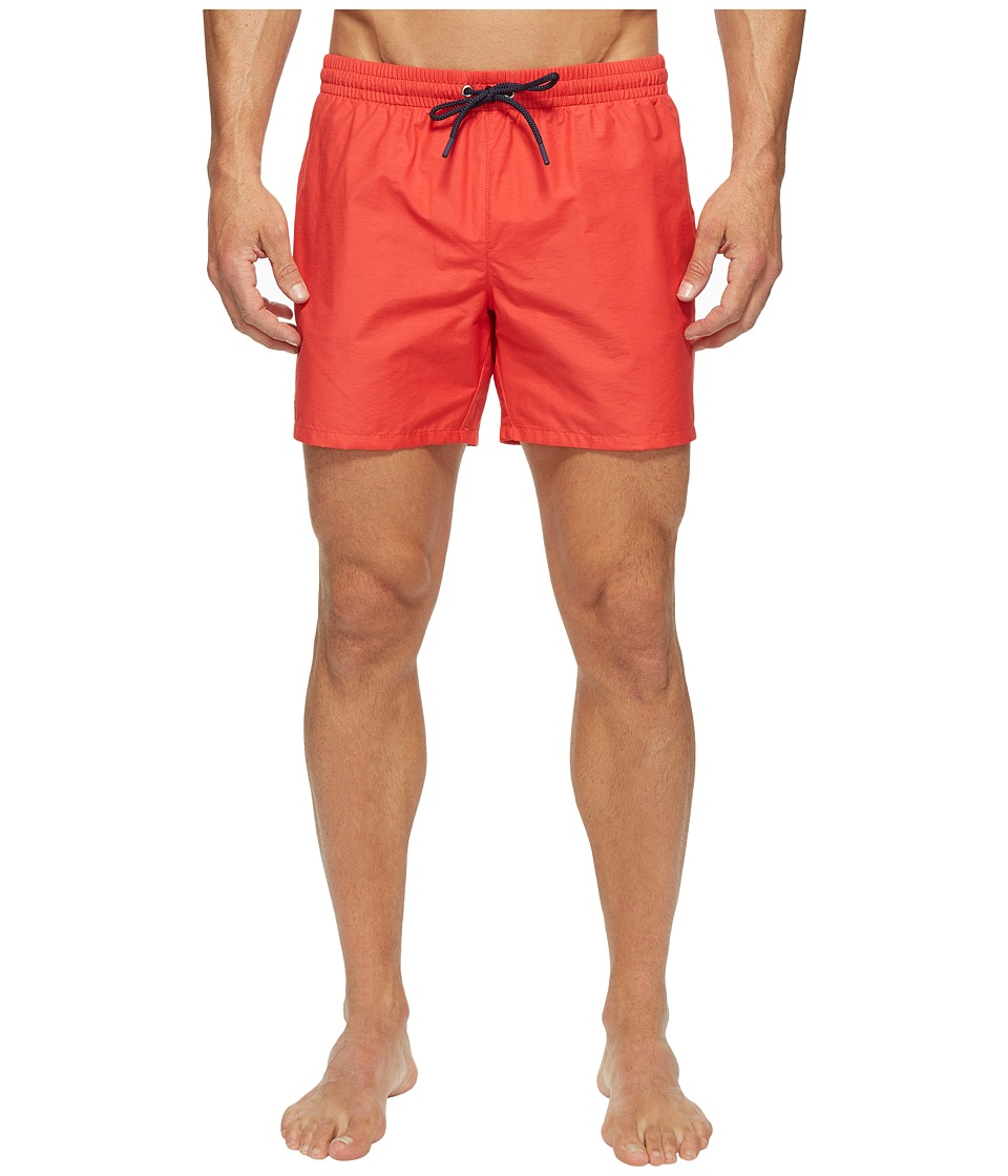 Lacoste - Taffeta Swimming Trunk (Grenadine/Navy Blue) Men's Swimwear