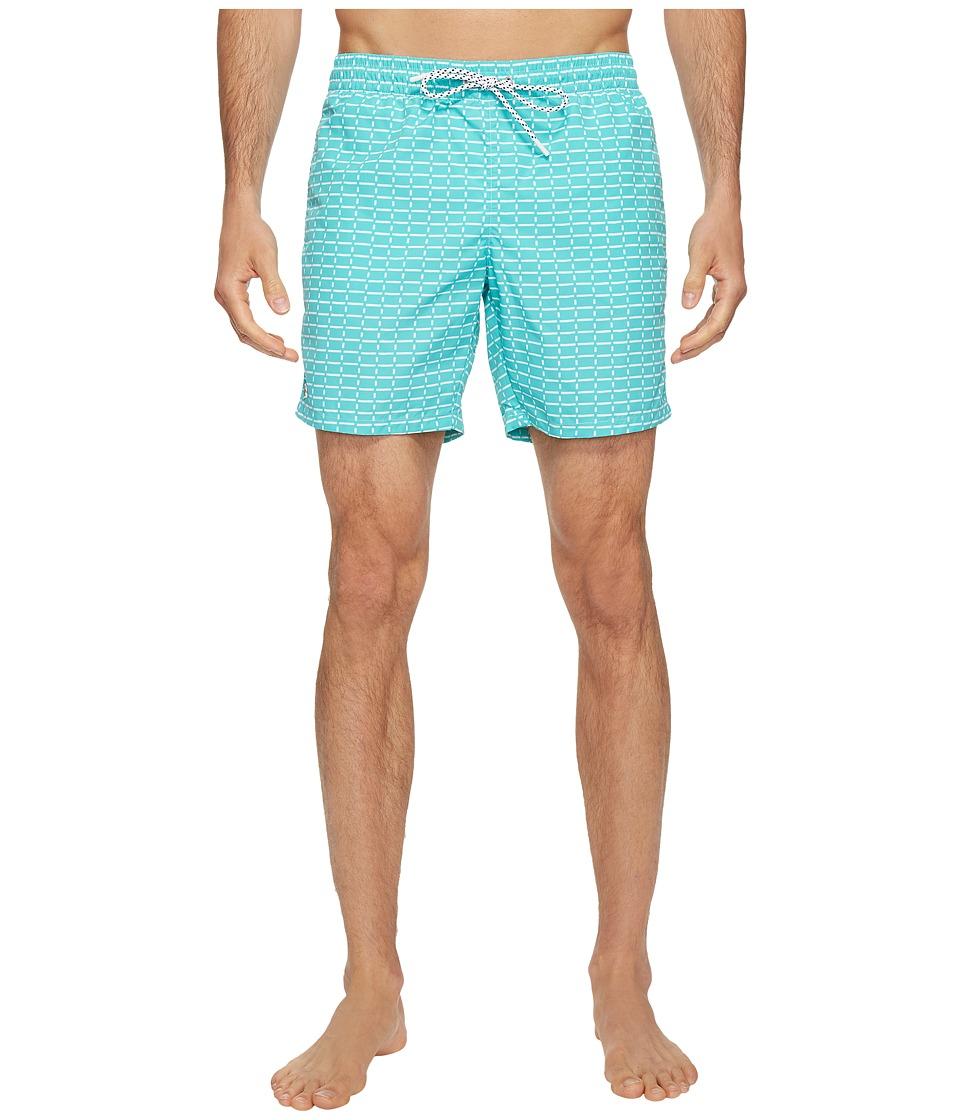 Lacoste - All Over Print Swim Medium Length (Bermuda/White) Men's Swimwear