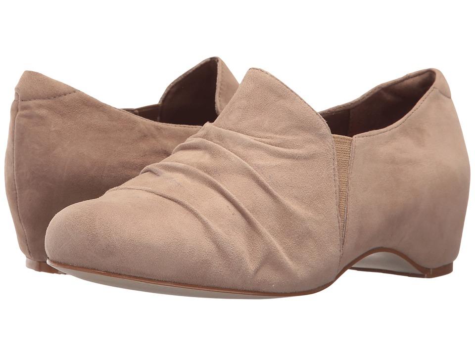 Walking Cradles - Keiko (Light Taupe Suede) Women's Slip on Shoes