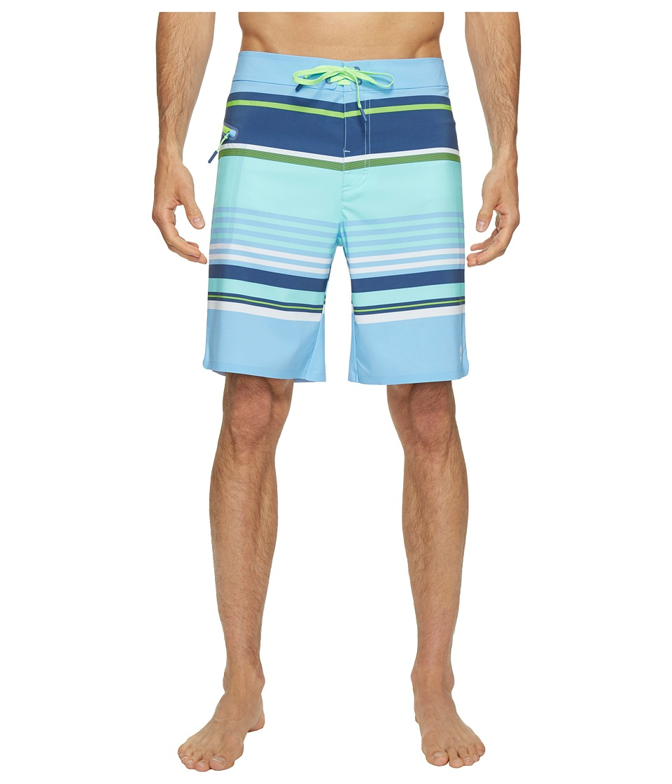 Vineyard Vines Tidal Stripe Boardshorts (Moonshine) Men