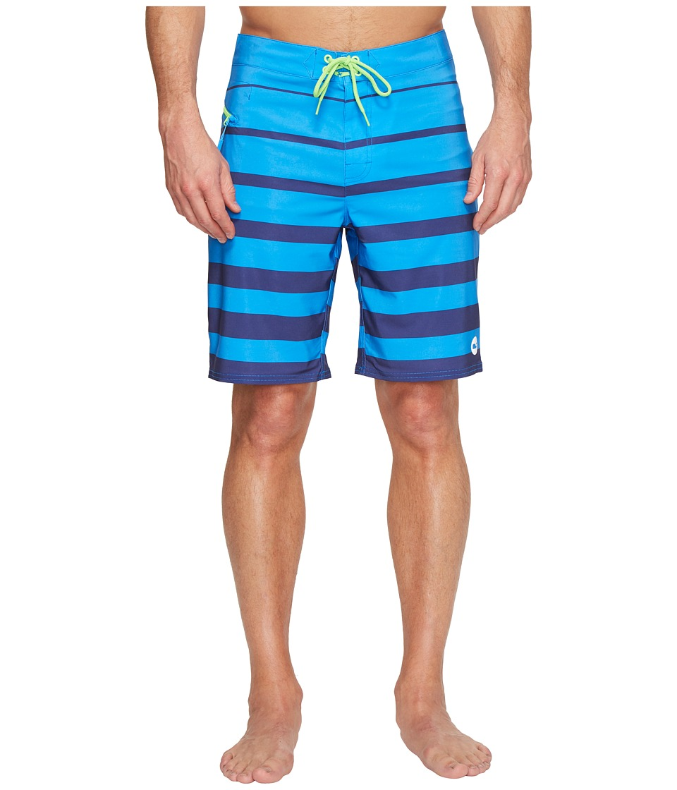 Vineyard Vines - Breakwater Stripe Boardshorts (Azure Blue) Men's Swimwear