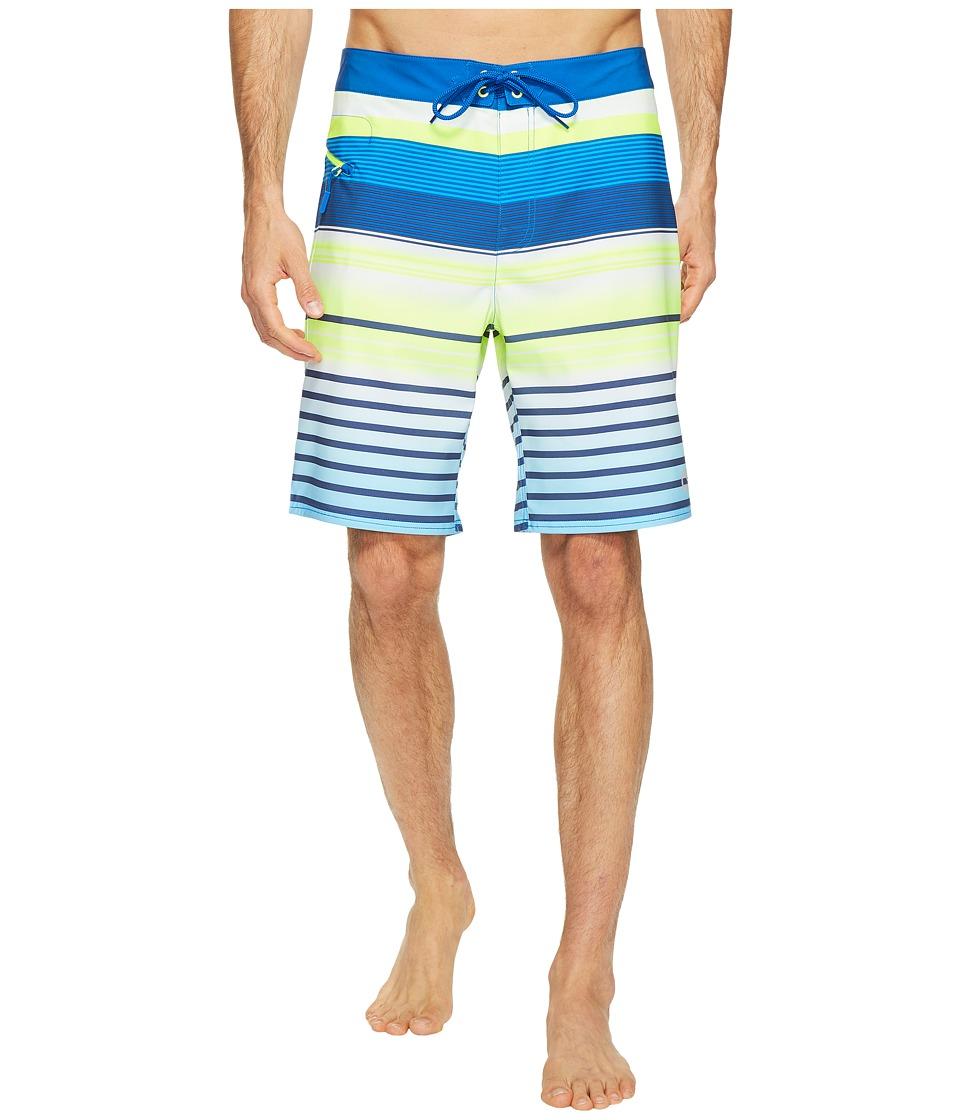 Vineyard Vines - Neon Stripe Boardshorts (Yacht Blue) Men's Swimwear