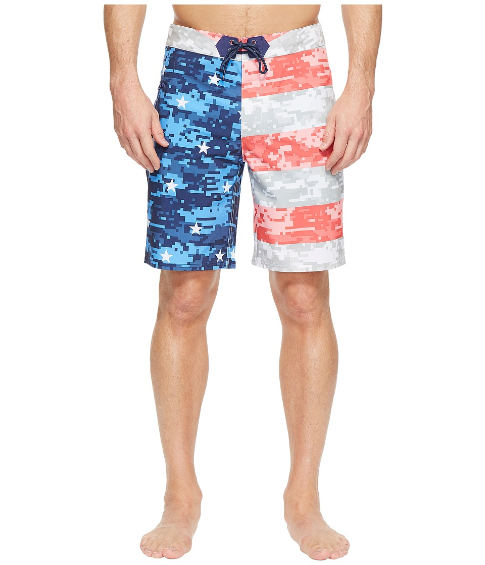 Vineyard Vines - Stars and Bars Boardshorts (White Cap) Men's Swimwear