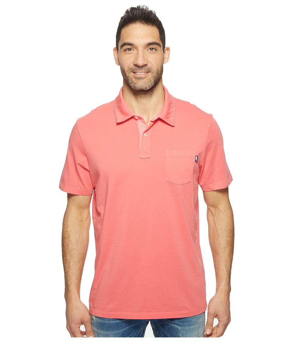 Vineyard Vines - Solid Pigment Garment Dye Polo (Jetty Red) Men's Short Sleeve Pullover