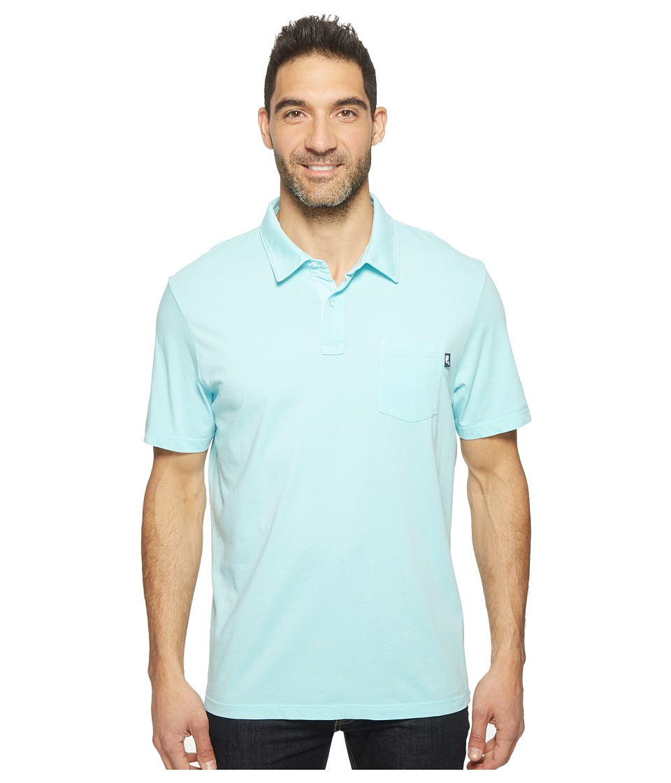 Vineyard Vines - Solid Pigment Garment Dye Polo (Pool Side) Men's Short Sleeve Pullover