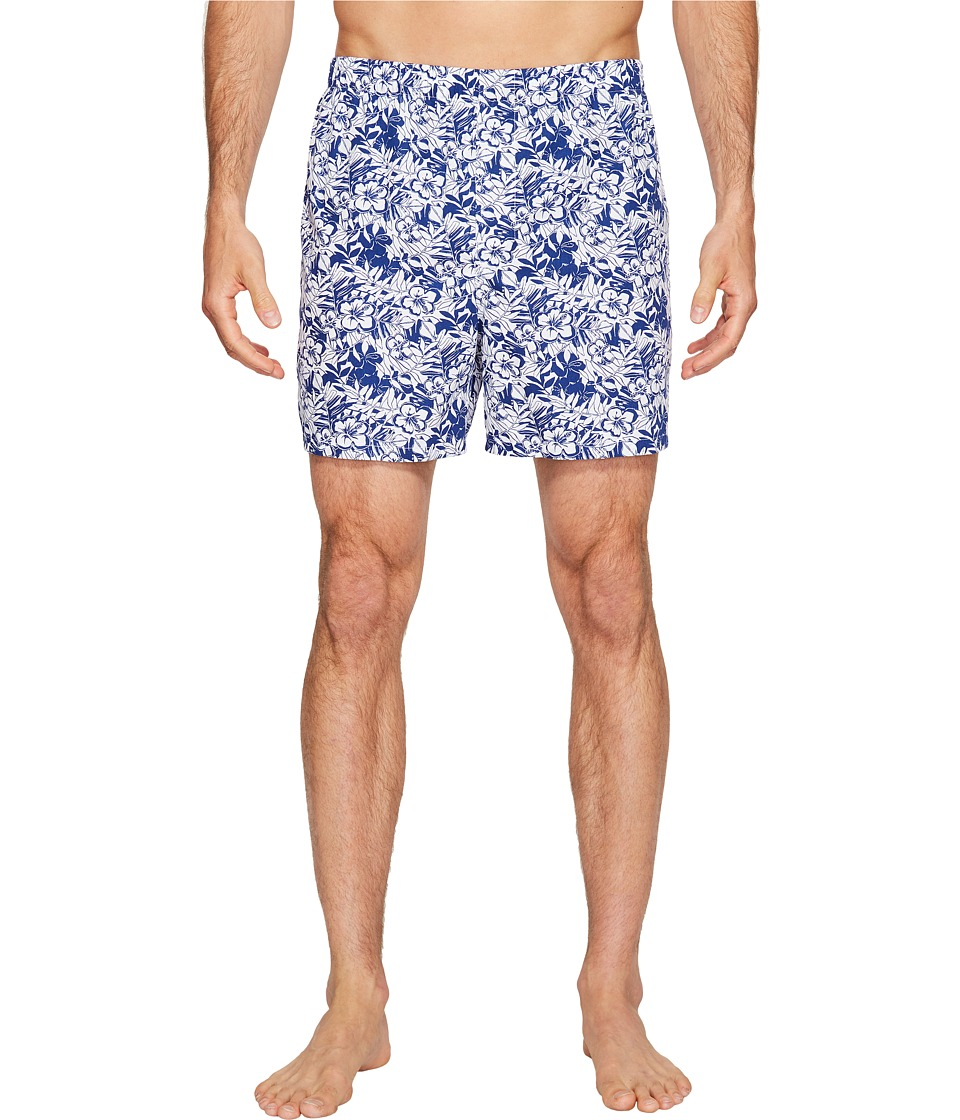 Vineyard Vines - Two-Tone Floral Boxer (Royal Ocean) Men's Underwear