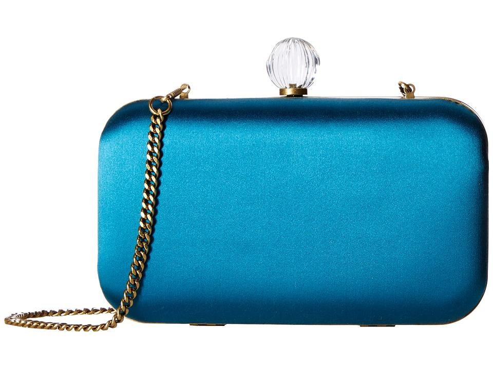 SJP by Sarah Jessica Parker - Ladybird (Teal Satin) Handbags