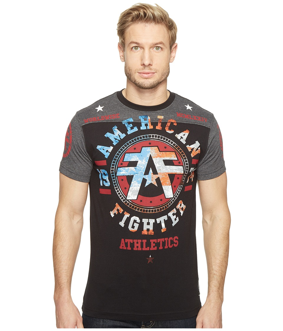 American Fighter - Davenport Short Sleeve Football Tee (Black) Men's T Shirt